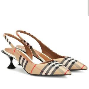 NWT Leticia Vintage Check Kitten Heels